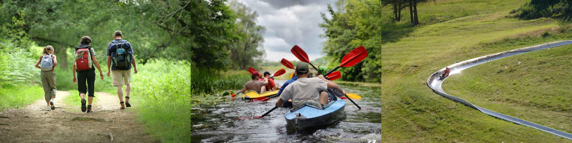randonnées VTT Kayak Luge